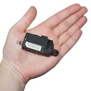 Photo of a micro linear actuator in hand