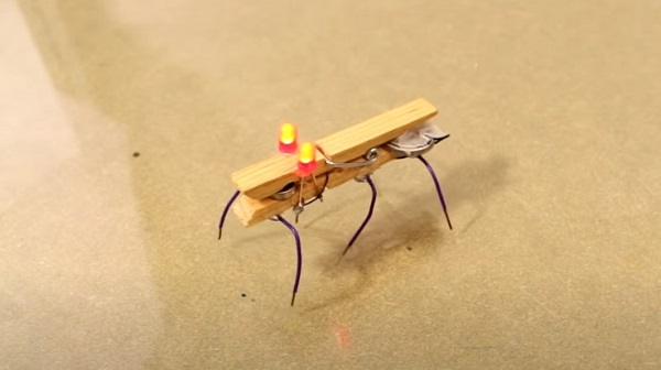 A bug robot that moves around on its wire-legs